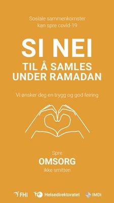 Si nei til å samles - ramadan